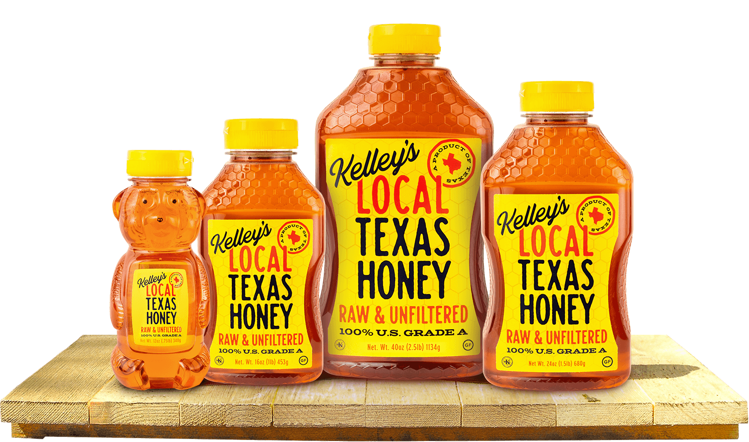 Local Texas Honey Jars