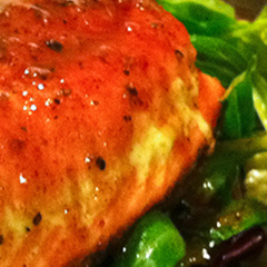 Salmon With Honey Balsamic Glaze Thumbnail