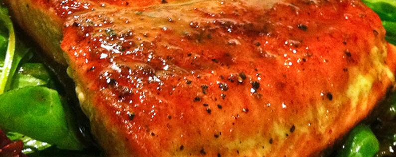 Salmon With Honey Balsamic Glaze